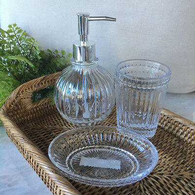 Vintage Style Glass Soap Dish/Bathroom Soap Plate