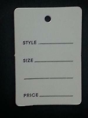 1000 Large Style/Size Price Tags No Strings