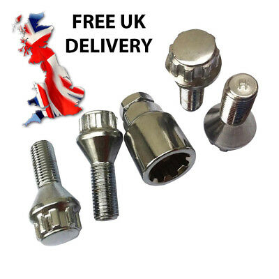 4 Locking Wheel nuts to fit Citroën Xsara Picasso alloy wheels