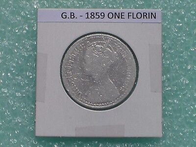 Great Britain - 1879 One Florin - Two Shillings- Predecimal Coin.