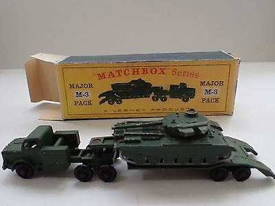 Lesney Matchbox Series Major Pack M3 Antar & Centurion Tank Gc Registered Postau