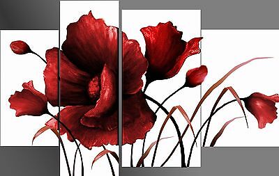 Huge Hand-painted Abstract Art Oil painting Wall Decor Canvas Flower (No Frame)