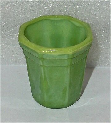 Akro Agate Octagonal Beautiful Lime Green Tumbler ~ 8 Available