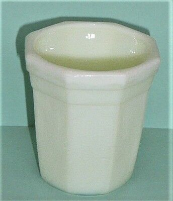 Akro Agate Octagonal Beautiful Cream Tumbler ~ 4 Available