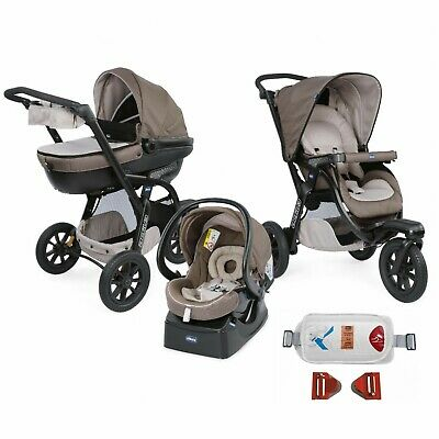 Trio Chicco Activ3 Top Dove Grey + Kit Auto
