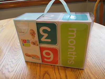 NEW Pearhead Baby Age Blocks Photo Prop Months Days Weeks
