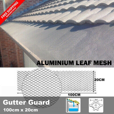 100cm x 20cm Gutter Guard DIY Aluminium Deluxe Leaf Mesh Keeps The Leafs Out