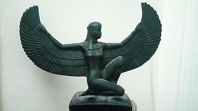 RARE ANTIQUE ANCIENT EGYPTIAN ISIS Status of Wings Isis Stone  2686 – 2181 BC
