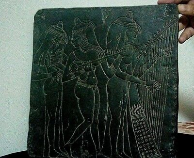 RARE ANTIQUE ANCIENT EGYPTIAN Pharaoh Music and Dance Stela 1400 - 1100 BC