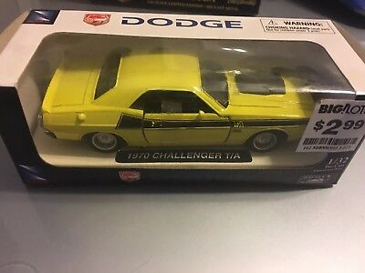 1970 Dodge Challenger T/A Yellow New-Ray Toys