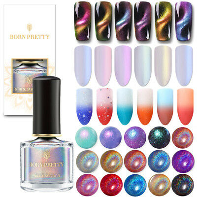 6ml BORN PRETTY Metallic Holographic Nail Polish Thermal Shell Cat Eye Varnish