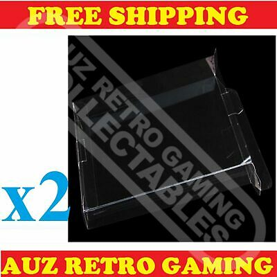 2x Thick GAME BOX PROTECTORS Cases For NES Original Nintendo Games SAMPLE PACK