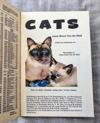 CATS by Louise Brown Van der Meid 1959 TFH Publications