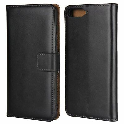 Luxury Genuine PU Leather Flip Wallet Case Stand Cover Pouch For Huawei Y6 2018