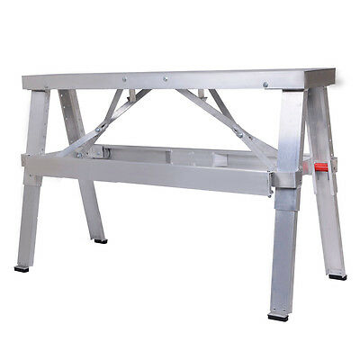 "New Aluminum Heavy Duty Drywall Walk-Up Adjustable 18""-30"" Folding Bench"