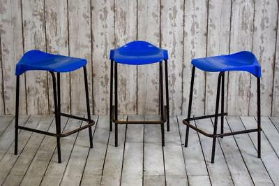 Vintage Industrial School Science Lab Cafe Bar Stools
