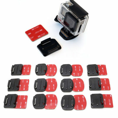 Practical 12pcs Helmet Flat Curved Adhesive Pads for Gopro Hero 2 3 3+ 4 5 Mount