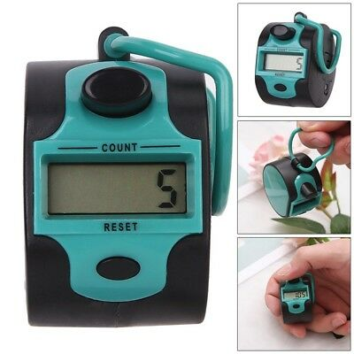 NEW Plastic 5 Number Golf Digital Hand Tally Counter 00000 to 99999 Count Range