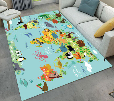 Floor Mat Kids Bedroom Carpet Living Room Area Rugs Cartoon