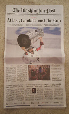 Washington Capitals Stanley Cup Champions Washington Post newspaper (SOLD OUT )