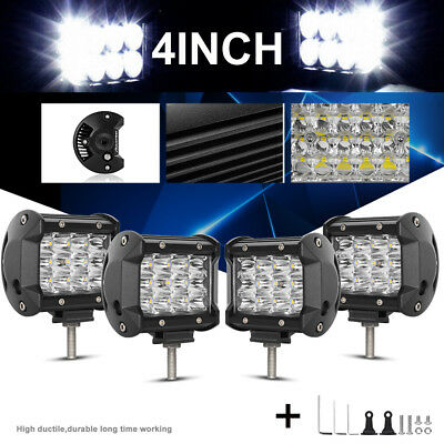 4X4inch CREE LED Light Bar Spot Flood Beam Offroad Work Driving Fog Reverse 4WD