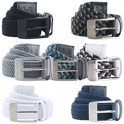 Under Armour Mens Braided Belt - UA Buckle Golf Elasticated Woven Stretch Fit