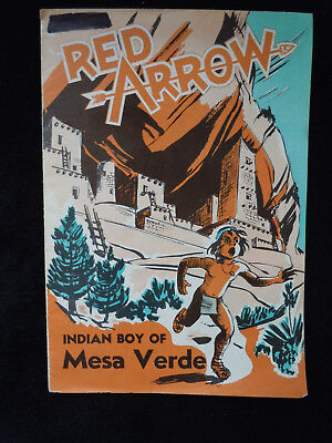 1952 Red Arrow Indian Boy of Mesa Verde Comic Book/ Postcard Good Copy