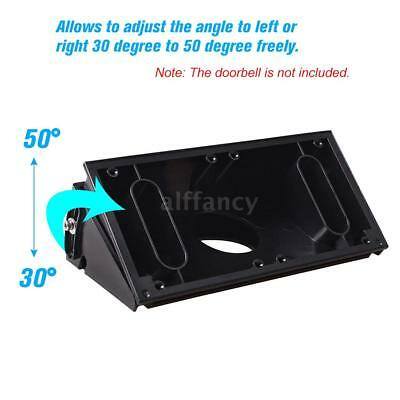 Adjustable Angle (30 to 50 degree freely) Doorbell Mount Bracket for Ring Q1X9