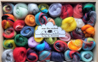 100g Mini Balls - 40 to 50 Balls- Merino Wool / Silk roving/ needle felting /
