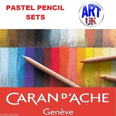 Caran d'Ache artists soft PASTEL PENCIL SETS of professional drawing sketching