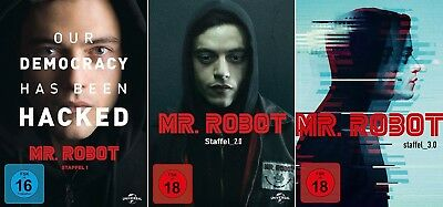 10 DVDs * MR. ROBOT - SEASON / STAFFEL 1 + 2 + 3 IM SET ~ FSK 18 # NEU OVP +