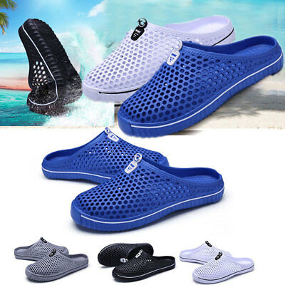 EVA Summer Men's Slippers Hollow-out Flip Flops Beach Sandals Hole Shoes Slider