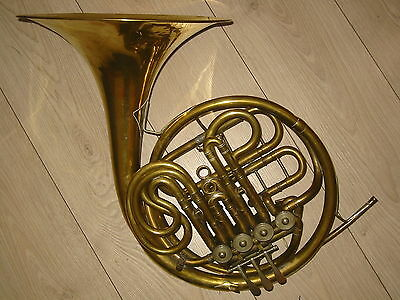 "Nice vintage rot.4V French double horn ""Amati"" needs some service"