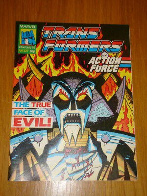 Transformers British Weekly #227 Marvel Uk Comic 1989