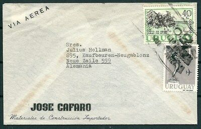 Uruguay 1961 Cover To Germany, Nice Stamps And Postmarks -Cag 300914