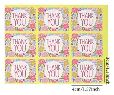 Stickers - Floral Thank you  - Set of 36