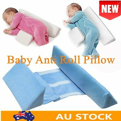 Baby Infant Newborn Anti Roll Pillow Sleep Positioner Safe Sleeper Prevent AU