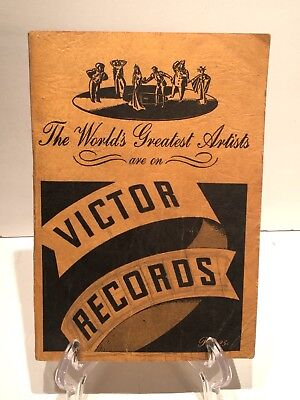 1938 Victor Records Catalog No. 2724: The World's Greatest Artists