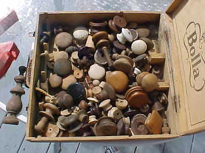 Lot of ABOUT 100 Antique Vtg Wood Drawer Pulls, Knobs, Victorian,  Hardware