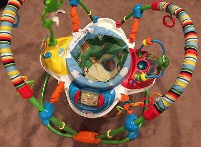 Giggle Bugs Activity Jumper BRIGHT STARTS Colorful Music Infant Playset EUC Baby