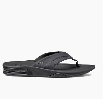 d39cfeb31e67 Reef Fanning RF002026 All Black Thong Flip Flop Sandals Mens UK 12 US 13  BNWT