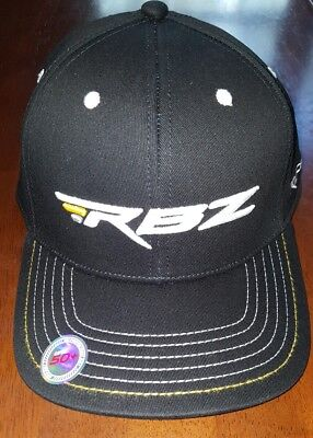 b448df2c08d Men s Taylormade Flexfit S M RBZ Golf Hat Cap Black Rocketballz Logo Stretch