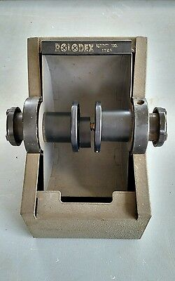 Vintage Rolodex Model 2254D Filing Metal Roll Top Rotary Index