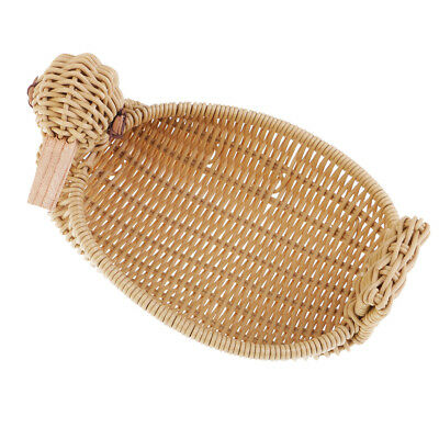 Plastic Basket Imitation Rattan Duck Type Basket Handcrafts Display Basket