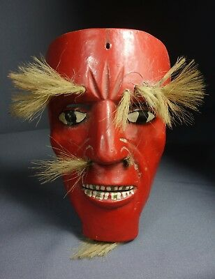 Hand carved Antique Tun Dance Mask from the Pacific Coast of Guatemala