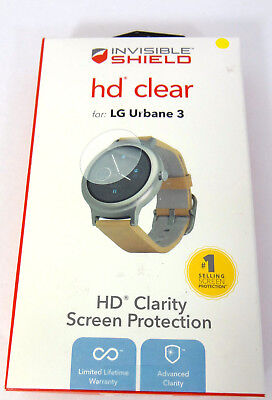 NEW Zagg Screen Protection Cover Invisible Shield HD Clear for LG Urbane 3 Watch