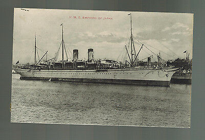 Mint England Ship Picture Postcard RMS Empress of Japan RPPC