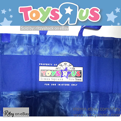 Toys R Us Times Square Blue New York NYC Exclusive Mesh Tote Shopping Bag - RARE