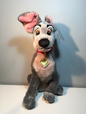 Disney Store Lady & the Tramp Soft plush Tramp Dog Soft medium with tag