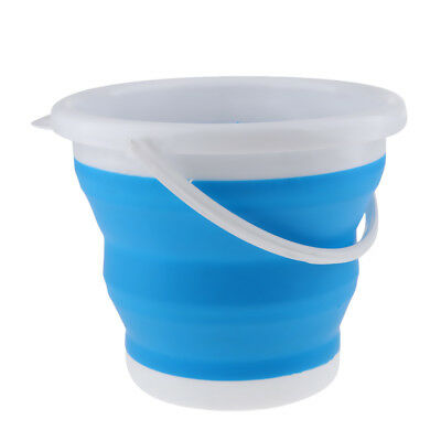 New Camping Folding Collapsible Silicone Bucket Outdoor Beer Storage Barrel